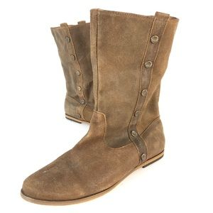 Minnetonka suede leather boots